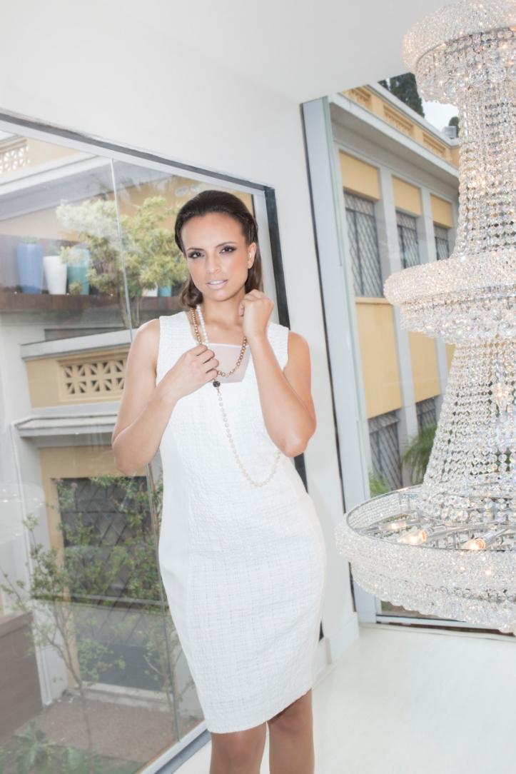 vestido RUBINELLA - colares FABRIZIO GIANNONE