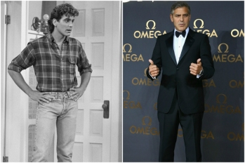 George Clooney em 1986 e hoje @ Getty