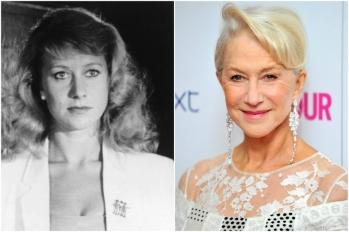 Helen Mirren em 1980 e hoje @ Getty
