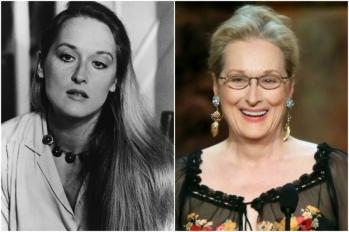 Meryl Streep em 1980 e hoje @ Getty