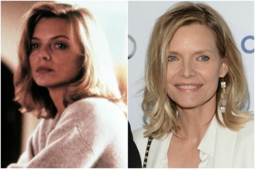 Michelle Pfeiffer em 1988 e hoje @ Getty