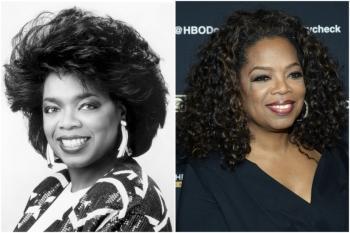 Oprah em 1989 e hoje @ Getty