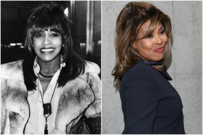 Tina Turner em 1979 e hoje @ Getty