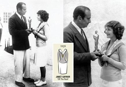 Oscar 1929 Janet Gaynor (Sétimo Céu, O Anjo das Ruas e Aurora) @ Oscar.org