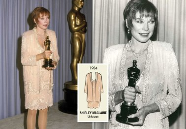 Oscar 1984 Shirley MacLaine (Laços de Ternura) veste Fabrice @ Getty