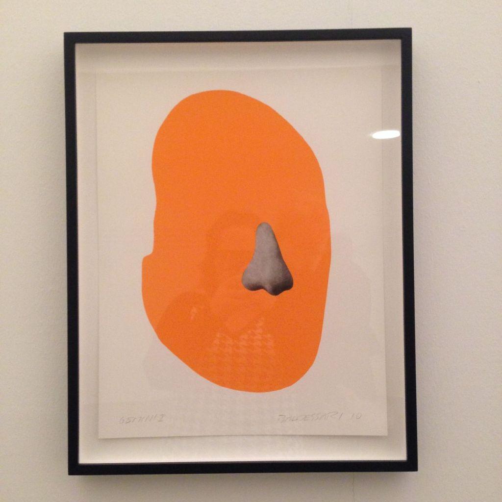 Nose Silhouette by John Baldessari (2010) @ Ana Paula Barros
