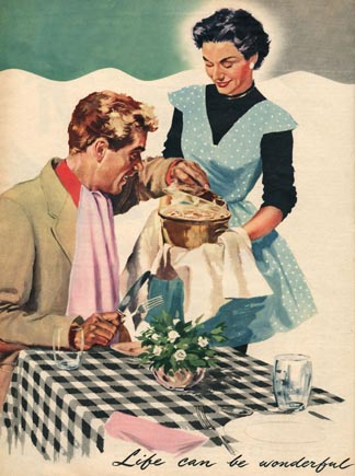Magazine illustration, 1954 by English School @ The Advertising Archives/ The Bridgeman Art Library