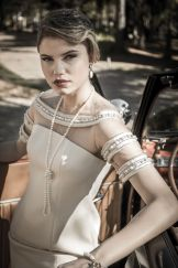 vestido Village Condotti (KÉR UNIQUE LIFE), brinco, colar, pulseira e anel FERNANDA DE PAULA