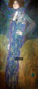 Emilie Louise Flöge, por Gustav Klimt ©Reprodução1