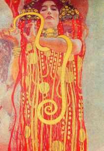 Hygeia Detail of Medice paint by Gustav Klimt - 1907 @ reprodução
