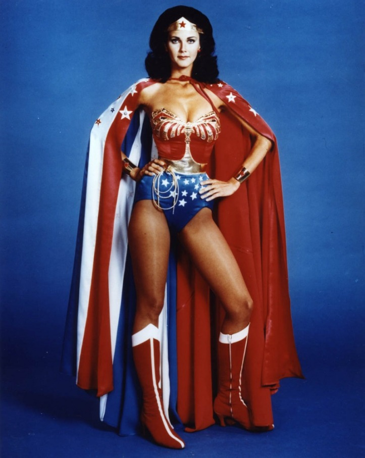 O uniforme da Mulher Maravilha de Lynda Carter @ divulgação