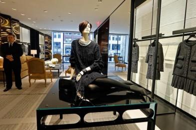 (Boston, MA, 12/02/13) New Chanel store openning on Newbury St in Boston. on Monday, December 2, 2013. Staff Photo by Nancy Lane