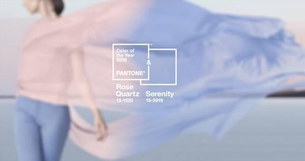 Cores Pantone 2016 Rose Quartz e Serenity