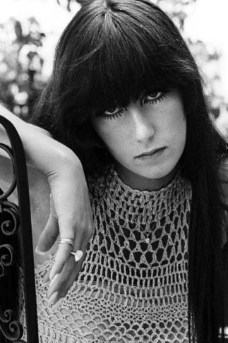 1967 Cher Bangs-Straight-Hair-Black