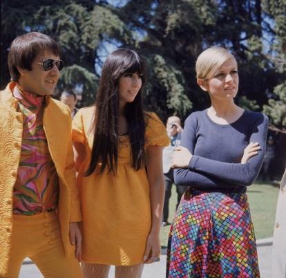 1967 Cher, Sonny e Twiggy @ Reprodução