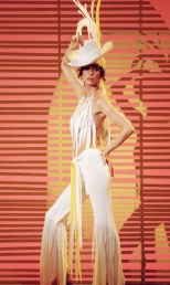 1974 Cher-70s-White-Pants-Hat