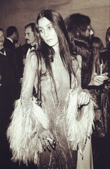 1974 Cher-Feathers-Sheer-Dress-Gown (2)