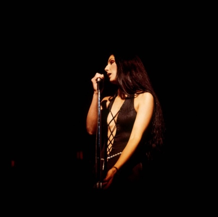 1975 Cher-Stage-Black-Jumpsuit