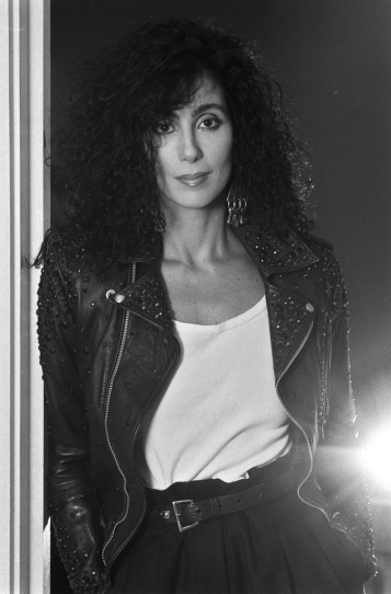 1989 Cher Black-Leather-Jacket