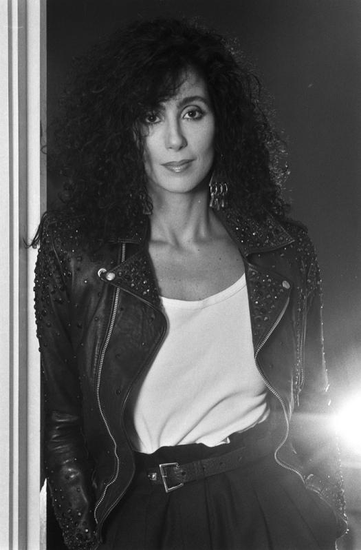 1989 Cher Black-Leather-Jacket