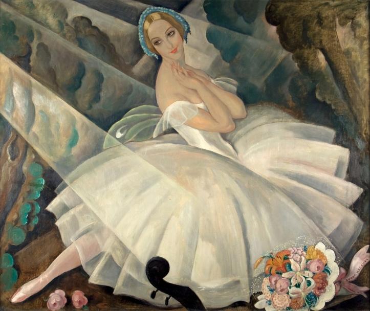 Ulla Poulsen no ballet Chopiniana by Gerda Wegener in 1927 @ Domínio Público