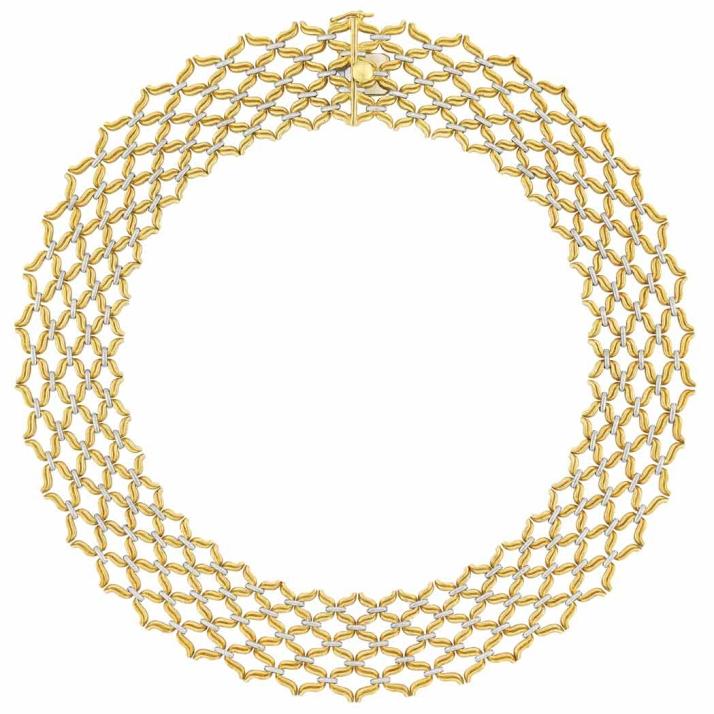 Bucellati - Colar Two Color de Ouro @ Reprodução