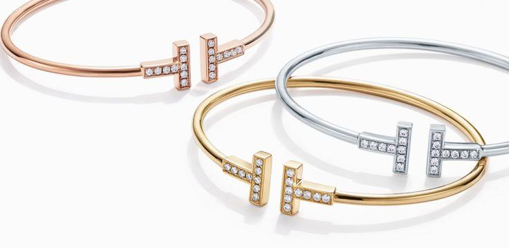 Tiffany & Co - Braceletes de ouro rose, amarelo e branco com Diamantes @ Reprodução