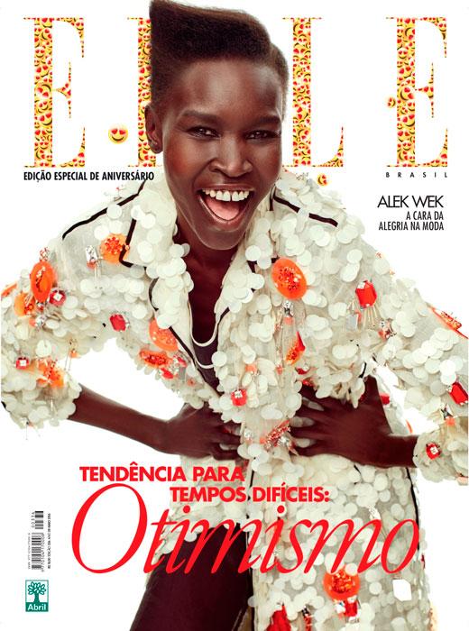Alek Wek na Elle Brasil Maio 2016 @ Gustavo Zylberszatajn