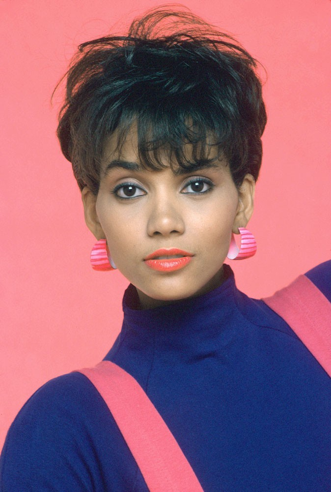 Halle Berry, 1989, Pixie Cut @ Getty