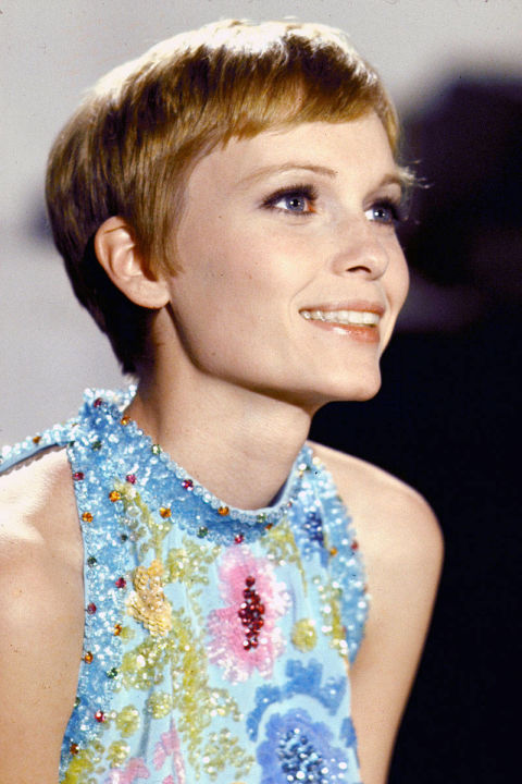 Mia Farrow, 1968, Pixie Cut by Vidal Sassoon @ Bill Eppridge - Time Life Pictures - Getty Images