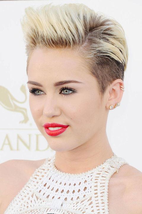 Miley Cyrus , 2013, pixie cut @ Getty