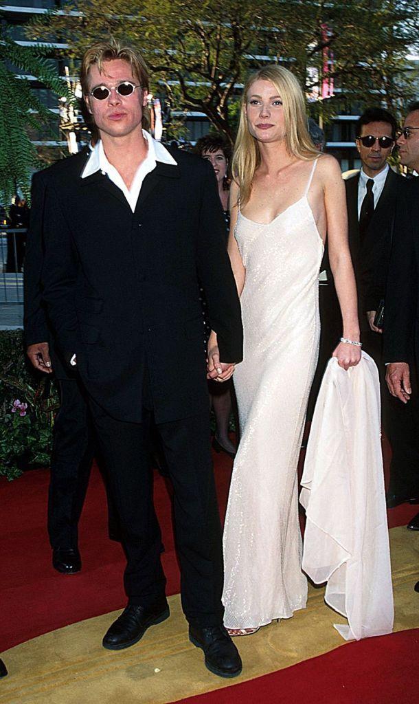 Brad Pitt e Gwyneth Paltrow no Oscar 1996 @ Getty