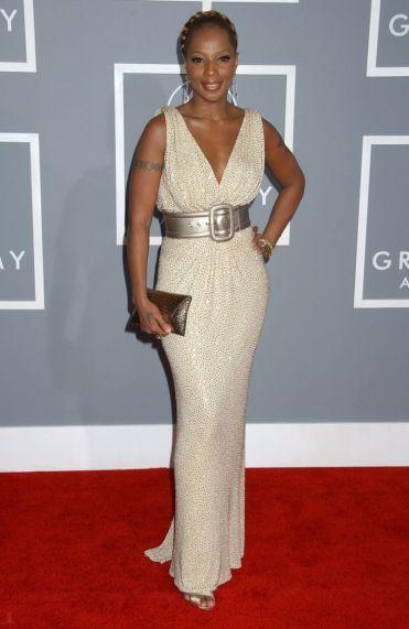 Grammy 2007 Mary J. Blige veste Michael Kors @ Getty