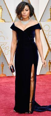 Oscar 2017 Taraji P. Henson veste Alberta Ferretti e joias Nirav Modi @ Getty