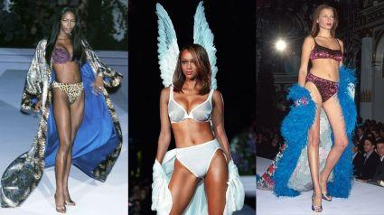 Naomi Campbell, Tyra Banks e Bridget Hall - Victoria's Secret 1998 @ Getty images