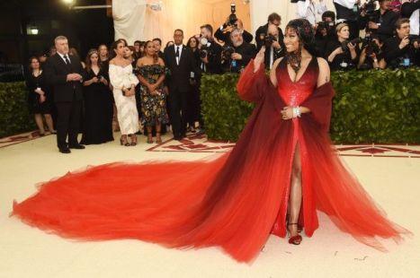 MET Gala 2018 Nicki Minaj veste Oscar de la Renta @ Getty