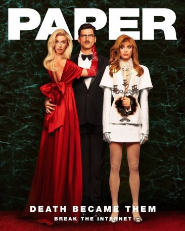 Sara Sampaio e Stella Maxwell - Papel Magazine - A Morte Lhe Cai Bem @ Luca & Alessandro Morelli (1)
