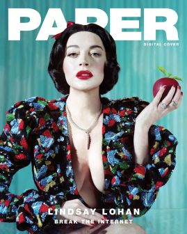 Lindsay Lohan Paper Magazine Winter 2019 @ Jeff Bark (1)