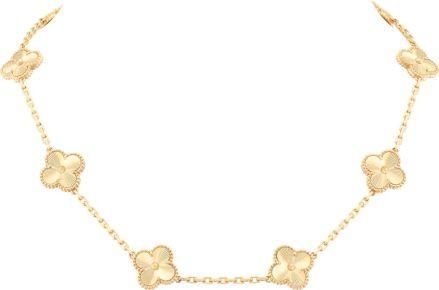van cleef&arpels_colar_vintage_alhambra_ouro amarelo guilhoch+¬_r$49.600,00 (2)