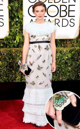 Keira Knightley veste Chanel custon no Globo de Ouro 2015 @ Shutterstock