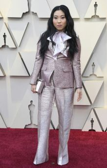 Oscar 2019 Awkwafina veste Dsquared2 e joias Chopard @ Getty