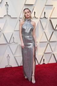 Oscar 2019 Brie Larson veste Celine by Hedi Slimane @ getty