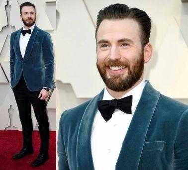 Oscar 2019 Chris Evans veste Salvatore Ferragamo @ Getty (1)