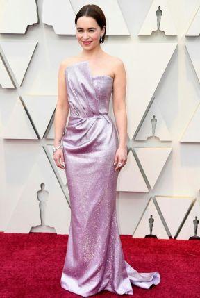 Oscar 2019 Emila Clarke veste Balmain @ Getty