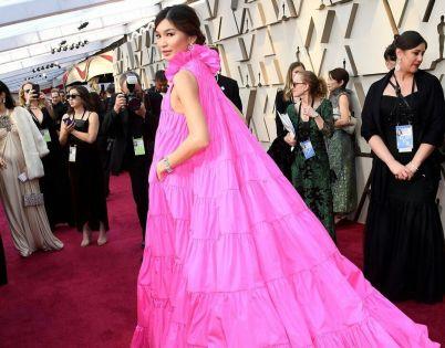 Oscar 2019 Gemma Chan veste Valentino Couture e joias Bulgari @ Getty (1)