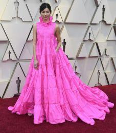 Oscar 2019 Gemma Chan veste Valentino Couture e joias Bulgari @ Getty