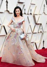Oscar 2019 Michelle Yeoh vese Elie Saab e joias Chopard @ Getty