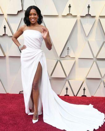 Oscar 2019 Regina King veste Oscar de la Renta e joias Chopard @ Getty