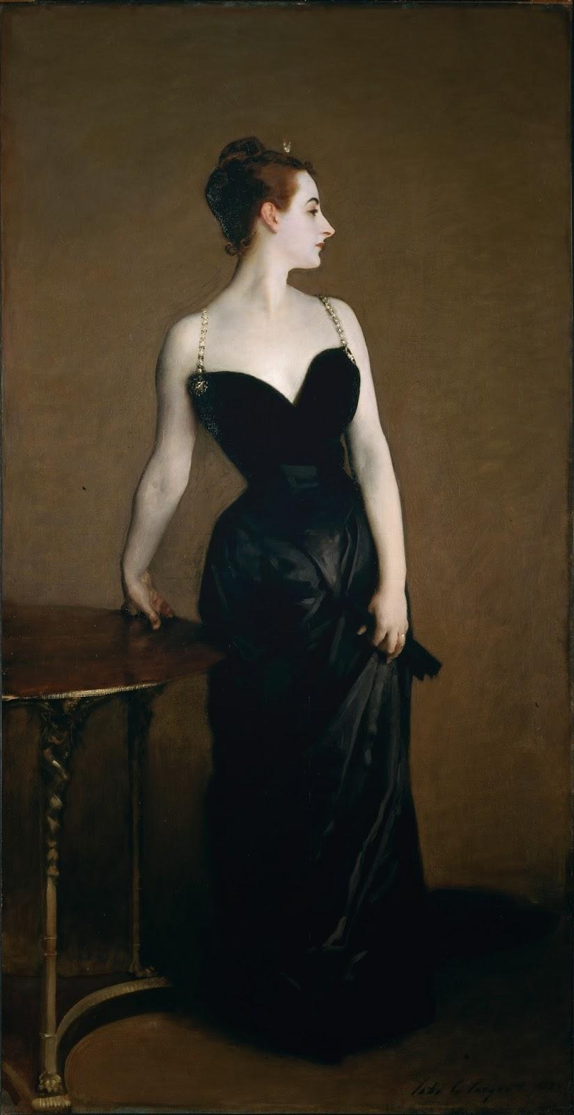 Madame X by John Singer Sargent 1884 @ Reprodução