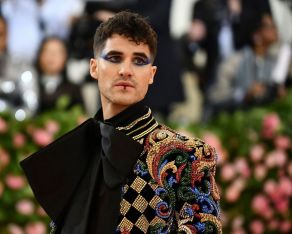 """Mandatory Credit: Photo by Charles Sykes/Invision/AP/REX/Shutterstock (10229703a) Darren Criss attends The Metropolitan Museum of Art's Costume Institute benefit gala celebrating the opening of the """"Camp: Notes on Fashion"""" exhibition, in New York Costume Institute Benefit celebrating the opening of Camp: Notes on Fashion, Arrivals, The Metropolitan Museum of Art, New York, USA - 06 May 2019"""